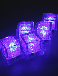 Diamond Ice Cube Shaped Purple LED Light (12-Pack)