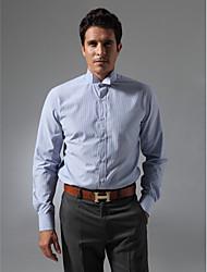 Wingtip Collar Plain Fly Front Shirt
