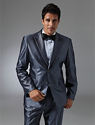 Single Breasted Two-button Peak Lapel Center-vented Groom Tuxedo