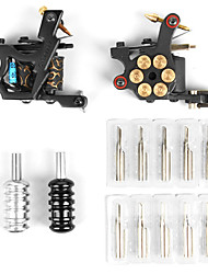 2 Cast Iron Tattoo Gun Kit with LCD Power