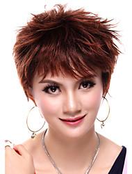 монолитным короткие прямые темно-красный синтетический парик
