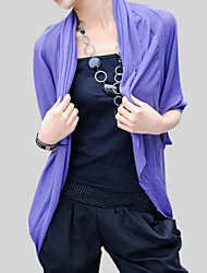 Wedding  Wraps Coats/Jackets Half-Sleeve Cotton Grape / Gray Office & Career 30cm Raglan Sleeves Open Front No