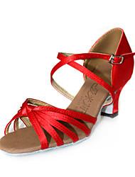 Women's Satin Upper Ballroom Dance Shoes Latin Shoes More Colors