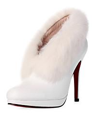 suédé talons stiletto boots en fourrure fête / soirée chaussures