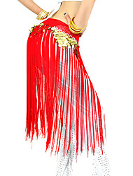 Belly Dance Belt Women's Performance Polyester Tassel(s) 1 Piece Hip Scarf