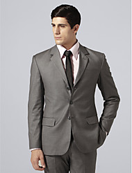 Custom Made Single Breasted Three-button Notch Lapel Center-vented Gray Check Suit Jacket