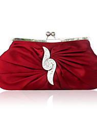 Silk With Rhinestone Evening Handbags/ Clutches More Colors Available