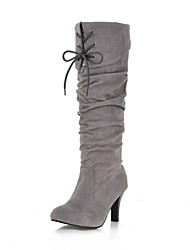 Knee High Stiletto Heel Suede Boots With Lace-up Party&Evening Women's Shoes (More Colors)