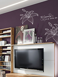 Lily Flower Wall Stickers (1985-P26)