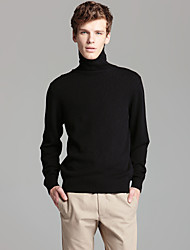 Man's Jersey Turtleneck Cashmere Pullover