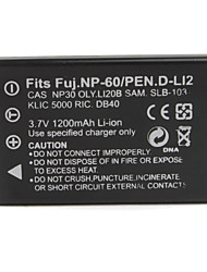 1200mAh 3.7V Digital Camera Battery NP-60 for FUJIFILM FinePix 50i and More