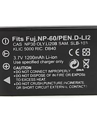 1200mAh 3.7V Digital Camera Battery KLIC-5000(FNP60) for KODAK DX7440 and More