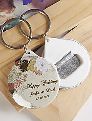 Plastique Porte-clés Favors-12 Piece / Set Porte-clés Thème floral Personnalisé Vert