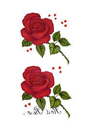 #(5) Tatouages Autocollants Séries de fleur Motif ImperméableHomme Femelle Adolescent Tatouage Temporaire Tatouages temporaires