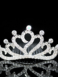 Flower Girl's Alloy Headpiece-Wedding / Special Occasion Tiaras Clear Round