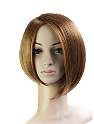 Capless Bob Style 100% Japanese Kanekalon Fiber Light Brown Straight Hair Wig
