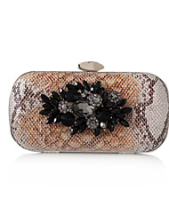 Faux Leather With Crystal/ Rhinestone Evening Clutches More Colors Available