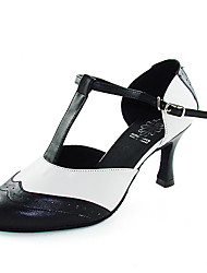 Ballroom Practice Shoes Leatherette Upper Black and White Dance Shoes Latin/Modern Shoes for Women More Colors