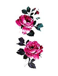 Временные тату Тату с цветами С рисунком Waterproof Женский Girl Подростки Вспышка татуировки Временные татуировки