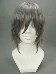 Cosplay Wigs Reborn! Hayato Gokudera Gray Short Anime Cosplay Wigs 32 CM Heat Resistant Fiber Male