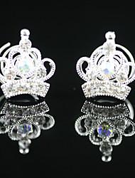 2 Pieces Gorgeous Rhinestones Bridal Pins Party/ Evening Headpieces