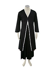 Inspired by Cosplay Cosplay Anime Cosplay Costumes Cosplay Suits / Kimono Solid Black Long Sleeve Coat / Hakama pants / Belt