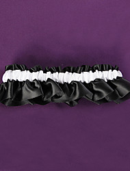 Garter Satin White Black