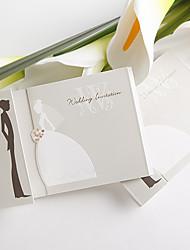 Wedding Invitation Sample Bride And Groom Design (One Set)