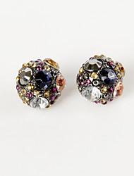 Women's Multicolor Jewel Stud Earrings