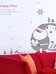 Christmas Decoration Wall Stickers Holiday Ornaments The Red Santa Claus