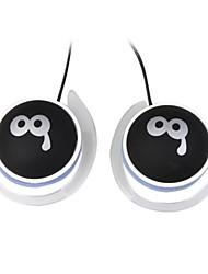 Fones de ouvido estéreo de 3,5 mm qq expressão (preto)