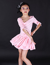 Kids' Dancewear Dresses Children's Training Spandex Half Sleeve