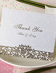 Thank You Card - Vibrant Damask (Set of 50)