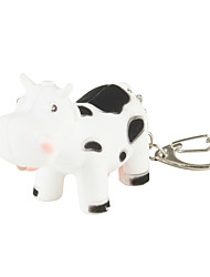 Cow Keychain with LED Flashlight and Sound Effects