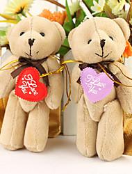 """kleiner Bär mit """"i love you"""" Herz (Satz von 6 Paare)"""