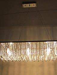 Kristall Pendelleuchte mit 8 Leuchten in Quaderform