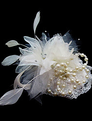 Women's Satin Feather Headpiece-Wedding Special Occasion Fascinators Flowers