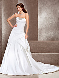 Lanting Bride® A-line / Princess Misses / Apple / Inverted Triangle / Rectangle / Petite / Hourglass / Pear Wedding Dress - Classic &