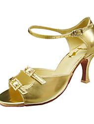 Anpassen Performance Tanzschuhe Kunstleder oberen Latin Schuhe für Frauen