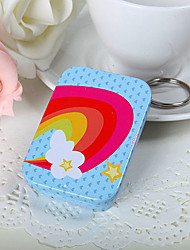 Rainbow and Star Square Mint Tin (set of 6)