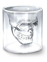 Verre en Cristal Style Crâne - Transparent
