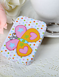 Colorful Dot and Butterfly Square Mint Tin (set of 6)