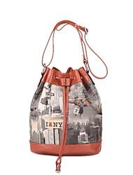 ц Я люблю Нью-Йорк шнурок сумка (больше цветов) (28см * 30см * 16см)