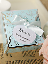 Personalized Lovely Blue Bear Favor Box (Set of 24)