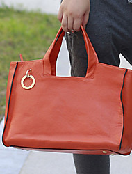 Leather Square Handle Bag