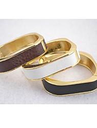 pulseiras unissex em couro e imitação de liga (mais cores)