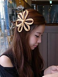 Women's Solid Color Big Flower Hairpin