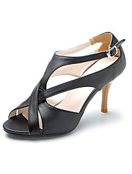 Leatherette High Heel T-strap Sandals With Buckle (More Colors)