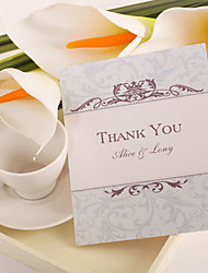 Thank You Card - Classic Damask Print (Set of 50)