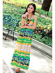 Cotton Maxi Dress With Spaghetti Straps (More Colors)